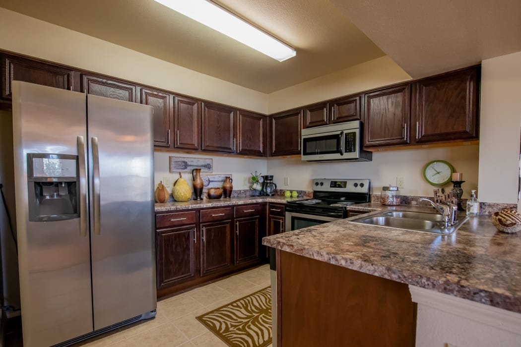 Luxury kitchen at Park at Tuscany in Oklahoma City, Oklahoma