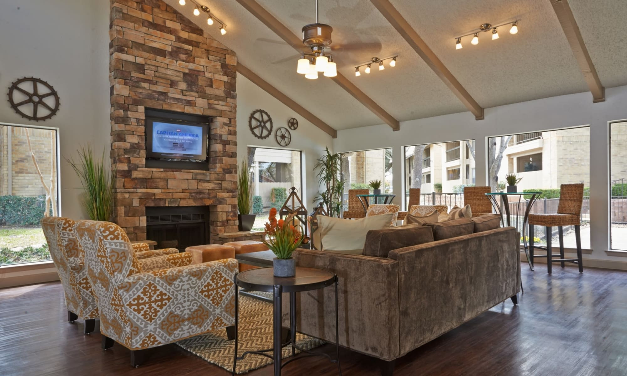 Living spaces at Retreat at Hart Ranch in San Antonio, Texas