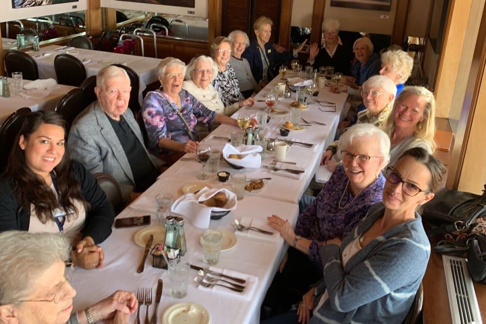 Senior residents enjoying a meal