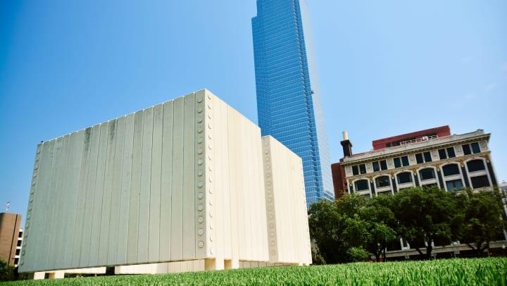 Buildings outside on a sunny day near Mosaic Dallas in Dallas, Texas