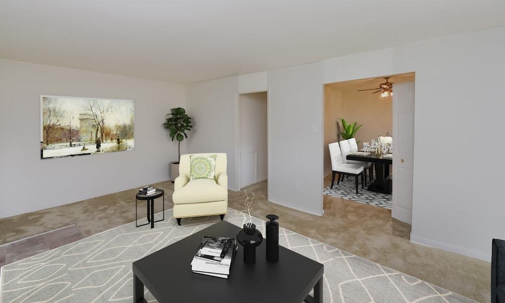 Living Room at Woodacres Apartment Homes in Claymont, Delaware