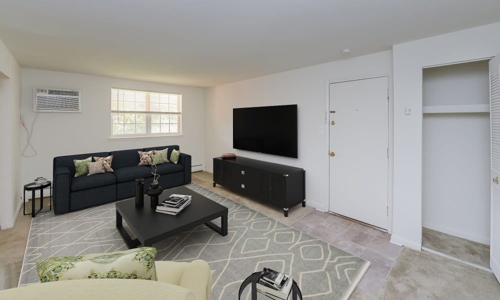 Living Room at Woodacres Apartment Homes in Claymont, DE