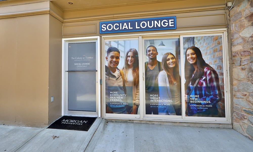 Social Lounge Entrance at The Colony at Towson Apartments & Townhomes