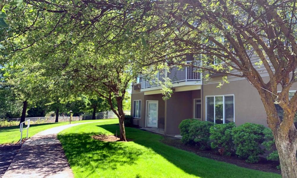 Walkway at Maple Ridge Senior Living