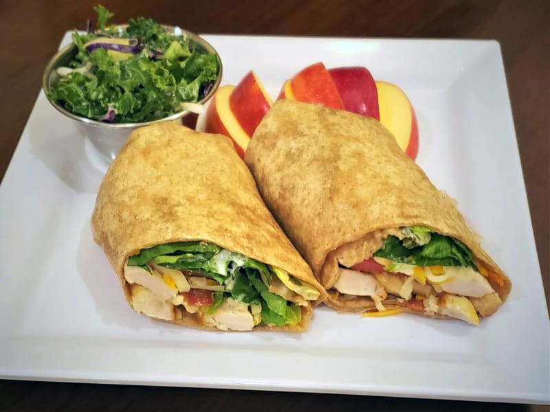 Grilled Chicken Club Wrap at Pear Valley Senior Living