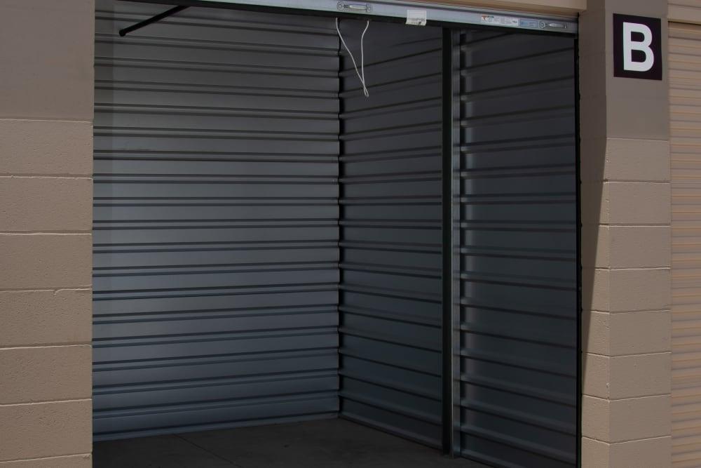 Interior of a storage unit at Stanford Ranch Self Storage