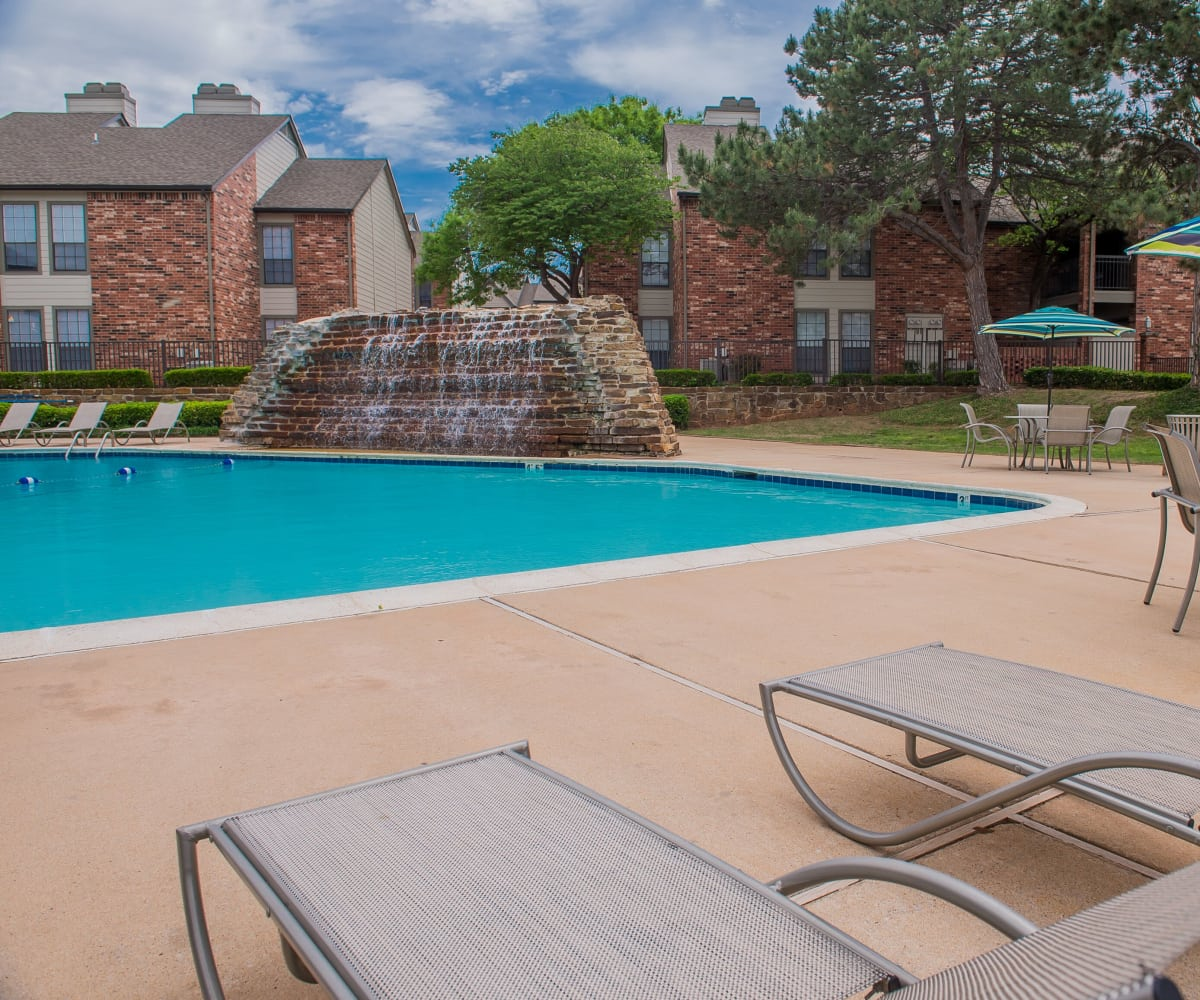 Swimming pool at Warrington Apartments' fitness center in Oklahoma City, Oklahoma