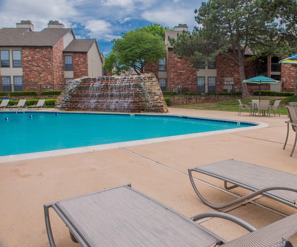 Swimming pool at Warrington Apartments' fitness center in Oklahoma City, Oklahoma