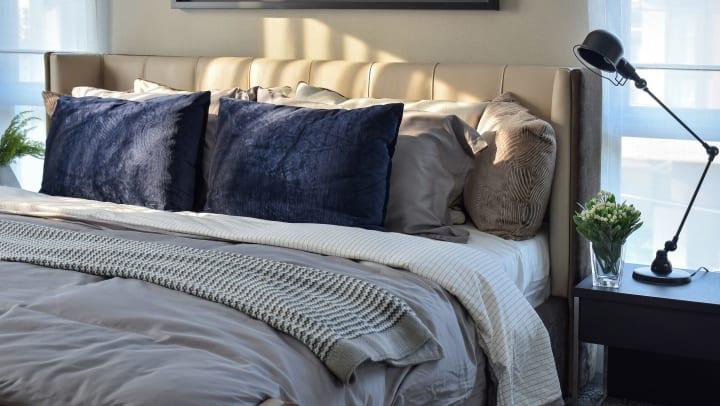 Gorgeous bedroom at Olympus Grand Crossing in Katy, Texas