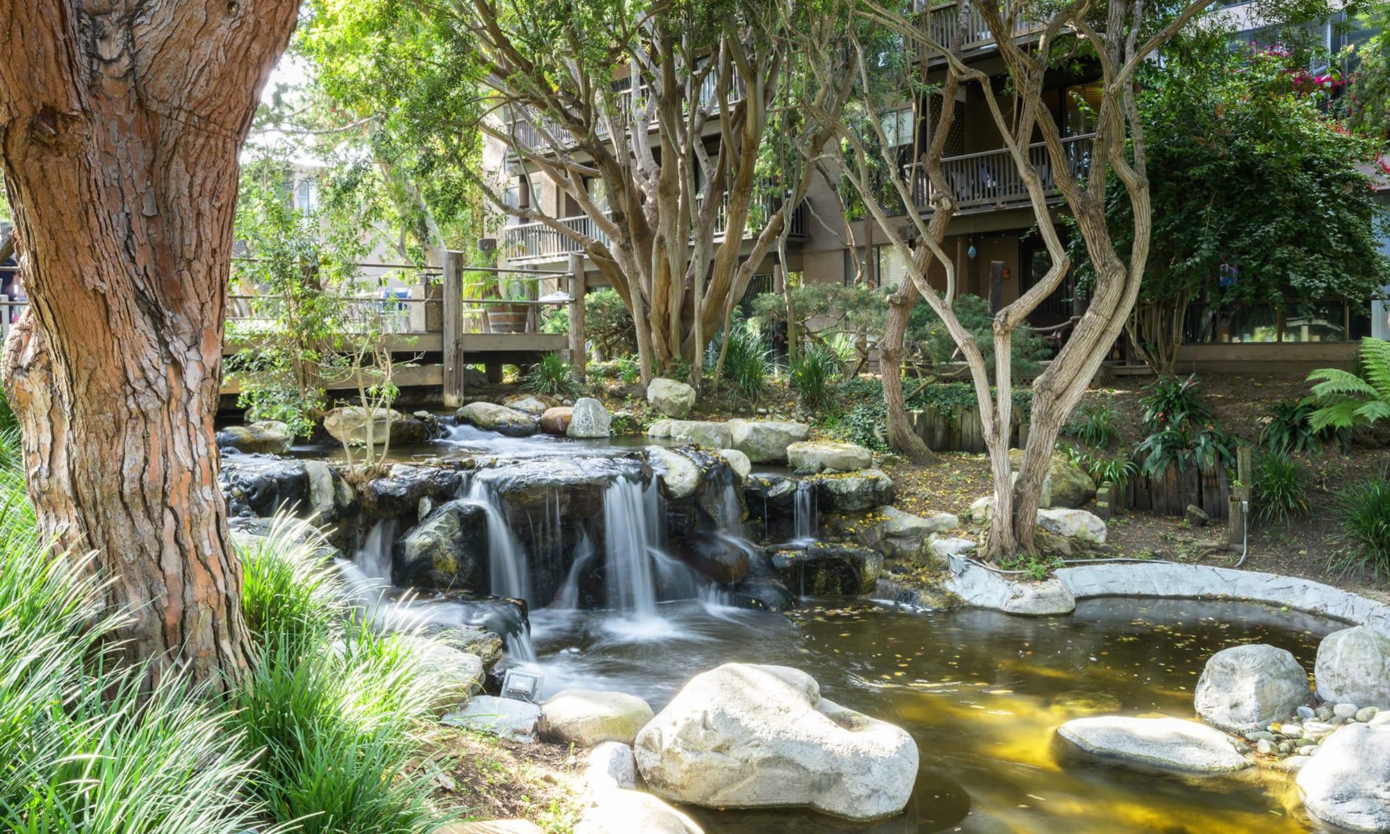 Stream at Mariners Village in Marina del Rey, California