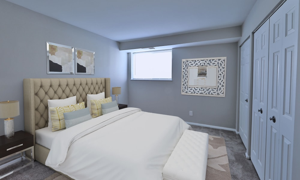 Bedroom at Morningside Apartments & Townhomes in Owings Mills, Maryland