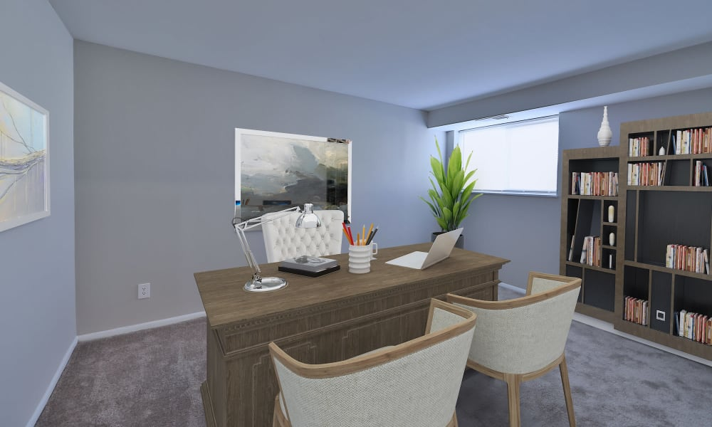 Home Office at Morningside Apartments & Townhomes in Owings Mills, Maryland
