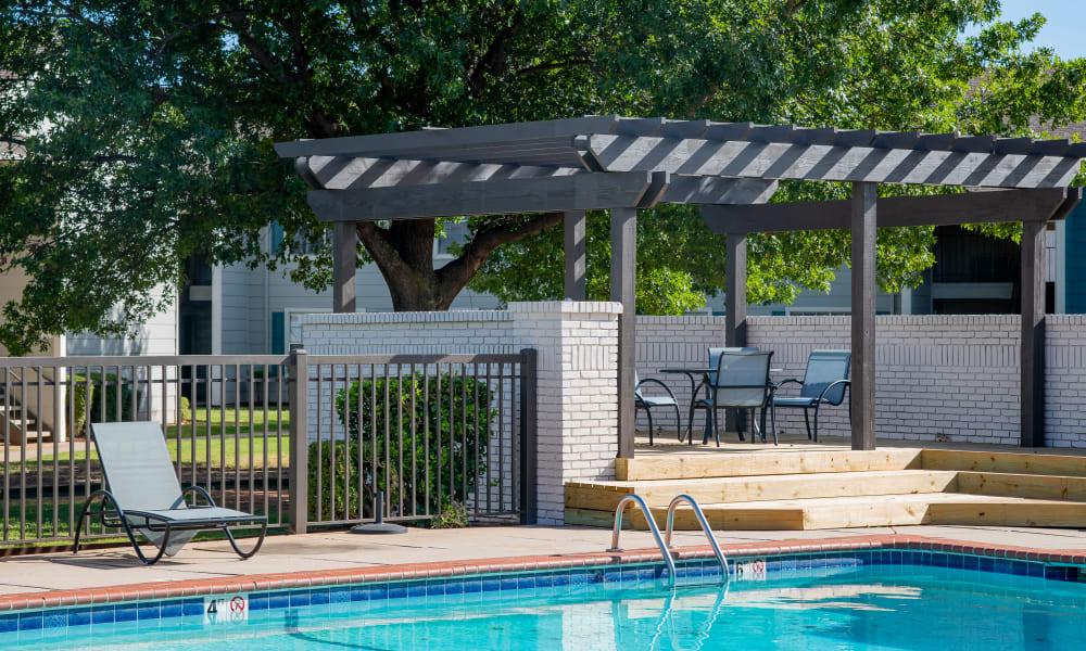 The community pool at Tammaron Village Apartments in Oklahoma City, OK