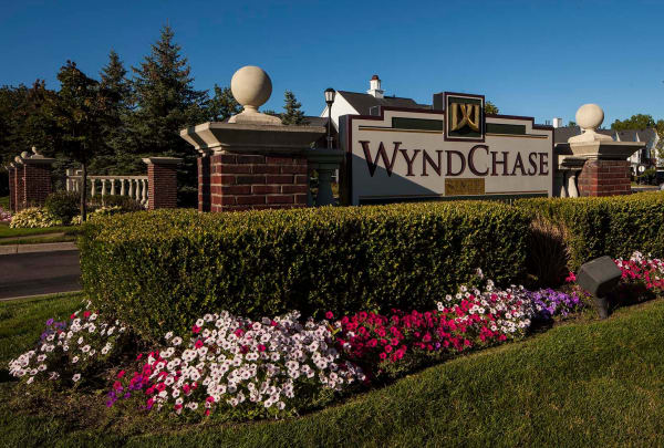Entryway to Wyndchase in Canton, MI