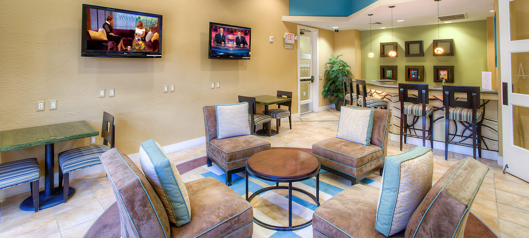 Community area at Azul at Spectrum in Gilbert, Arizona