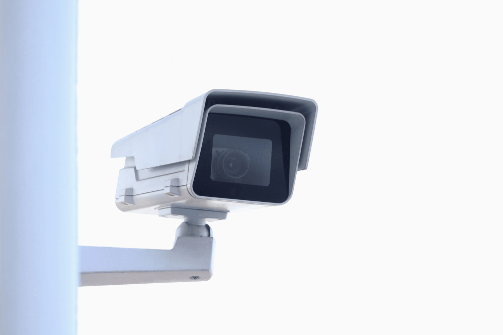 Digital surveillance camera at A-American Self Storage in Buena Park, California