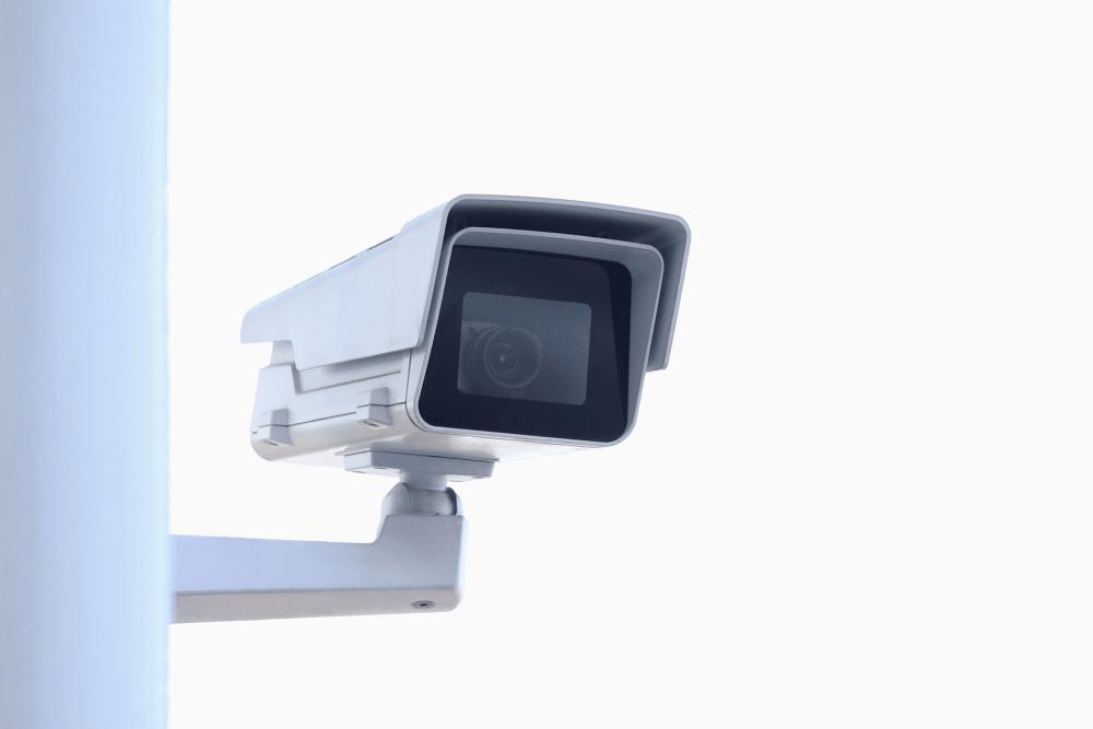 Digital surveillance camera at A-American Self Storage in Pomona, California