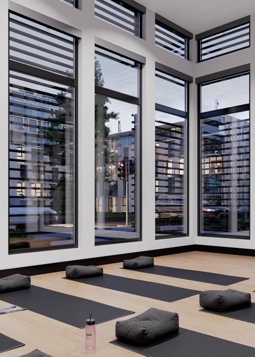 Yoga Studio at Solana Stapleton Apartments in Denver, Colorado
