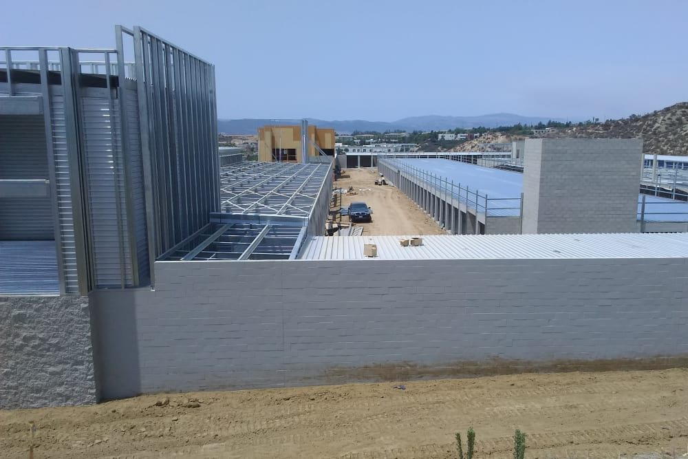 The concrete at Silverhawk Self Storage is almost all poured.