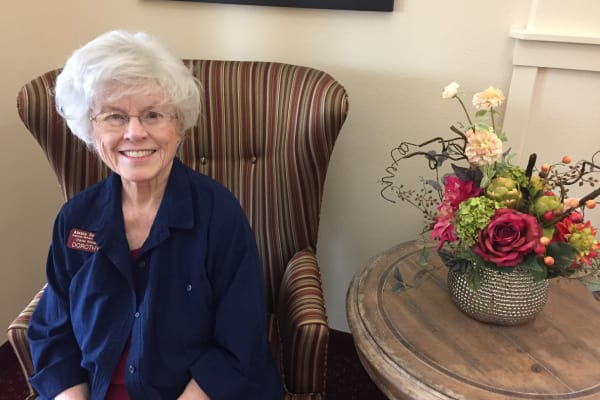 Dorothy Sanders at Ivy Creek Gracious Retirement Living in Glen Mills, Pennsylvania