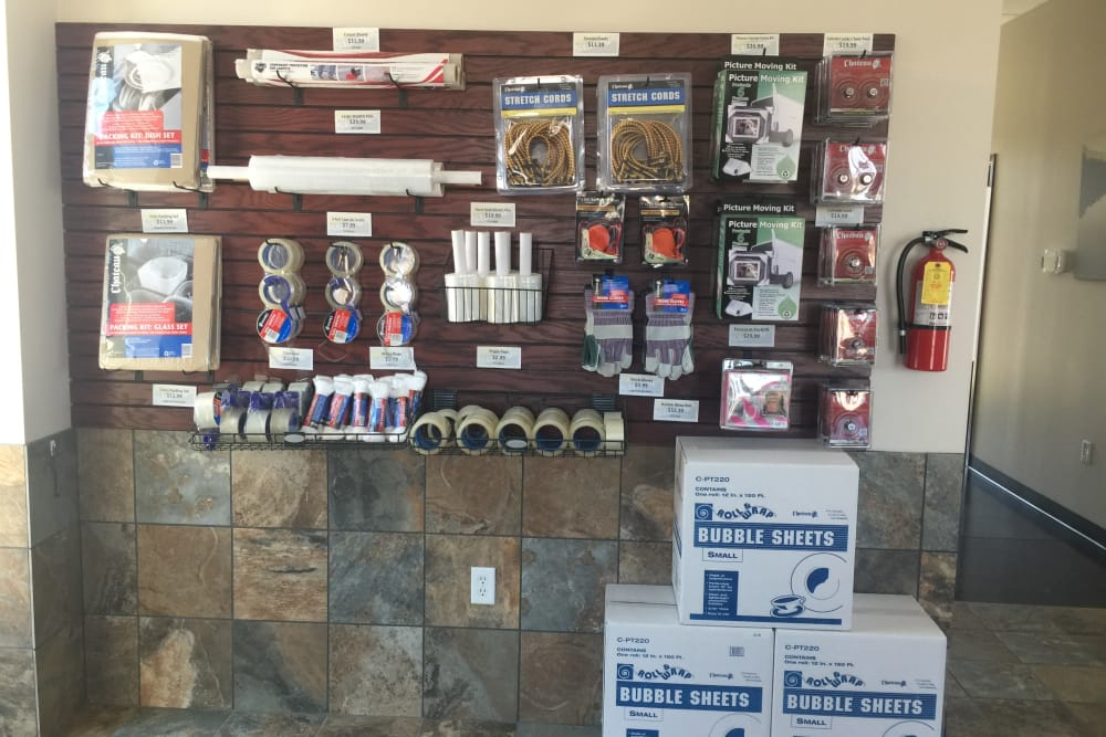 Merchandise at Towne Storage in Bluffdale, UT