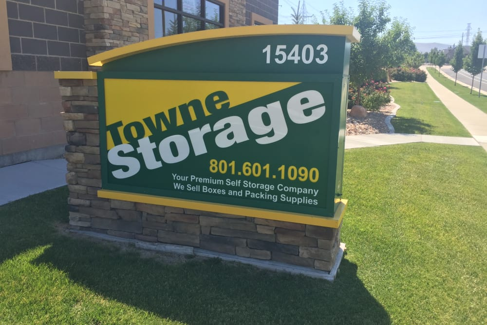 Signage at Towne Storage in Bluffdale, UT