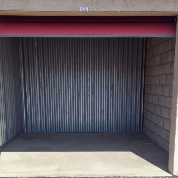 The interior of a storage unit at StorQuest Self Storage in Phoenix, Arizona