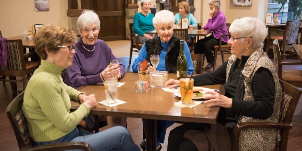Residents enjoying drinks at Fancho's at The Springs at Tanasbourne in Hillsboro, Oregon