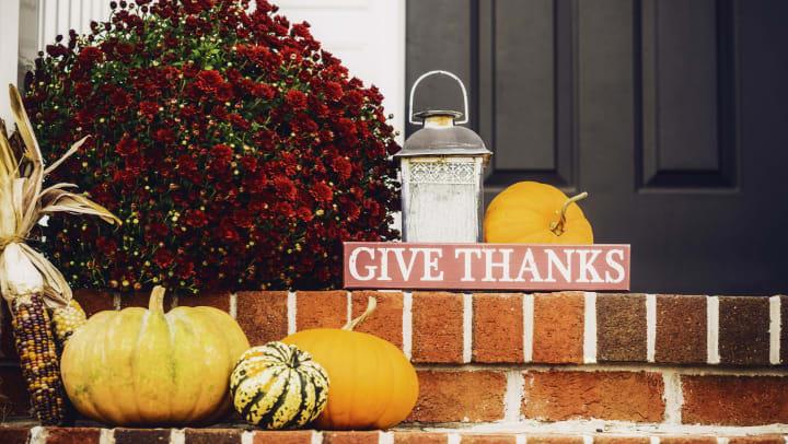Thanksgiving display at a unit at Olympus Katy Ranch in Katy, Texas