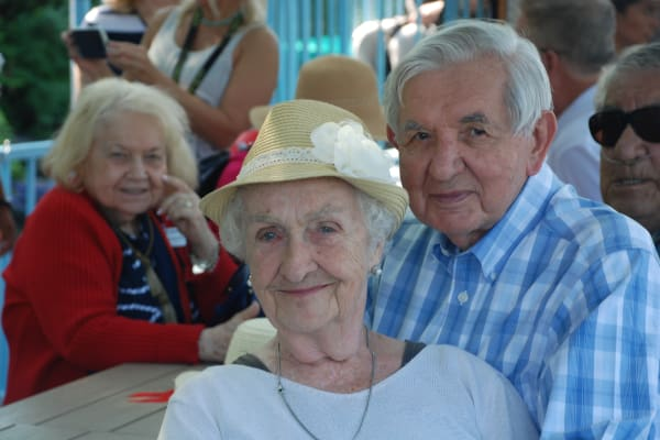 Two residents at Cypress Springs Gracious Retirement Living in Bradenton, Florida