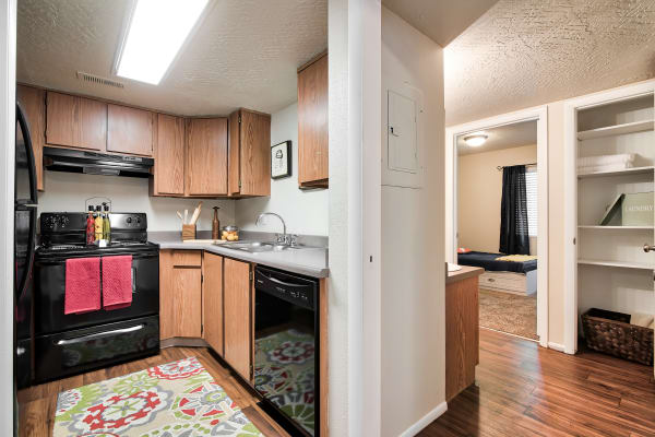 Kitchen at Cherry Creek Apartments in Riverdale, UT