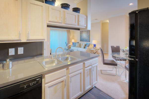 Fully equipped kitchen at Preston View in Morrisville, North Carolina