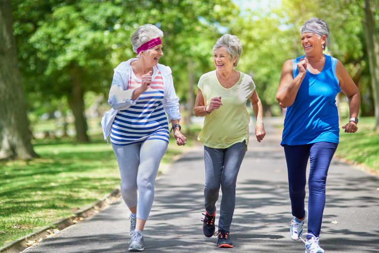 Residents walking at Harmony at Kent in Dover, Delaware