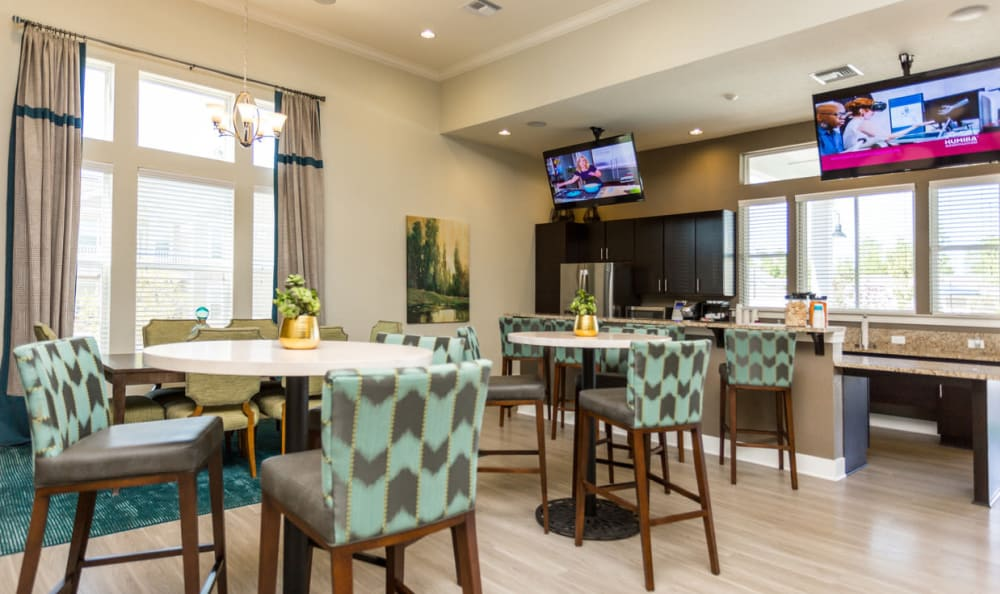 Clubhouse interior seating area at Springs at McDonough in McDonough, GA