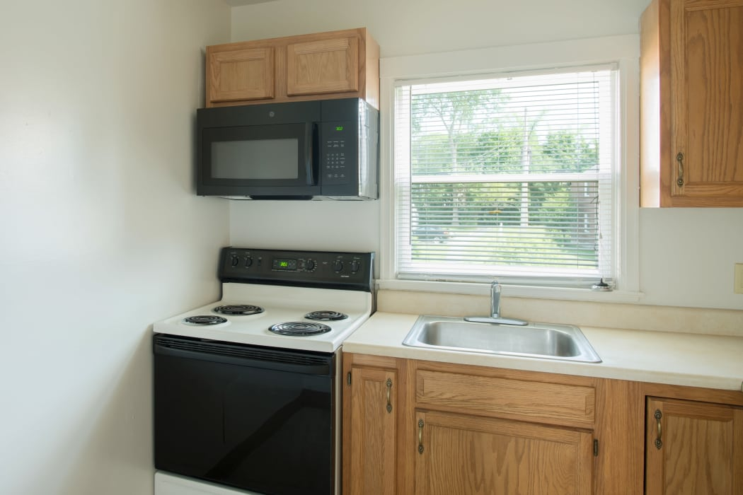 Fully Equipped Kitchen at Netherlands Village in Schenectady