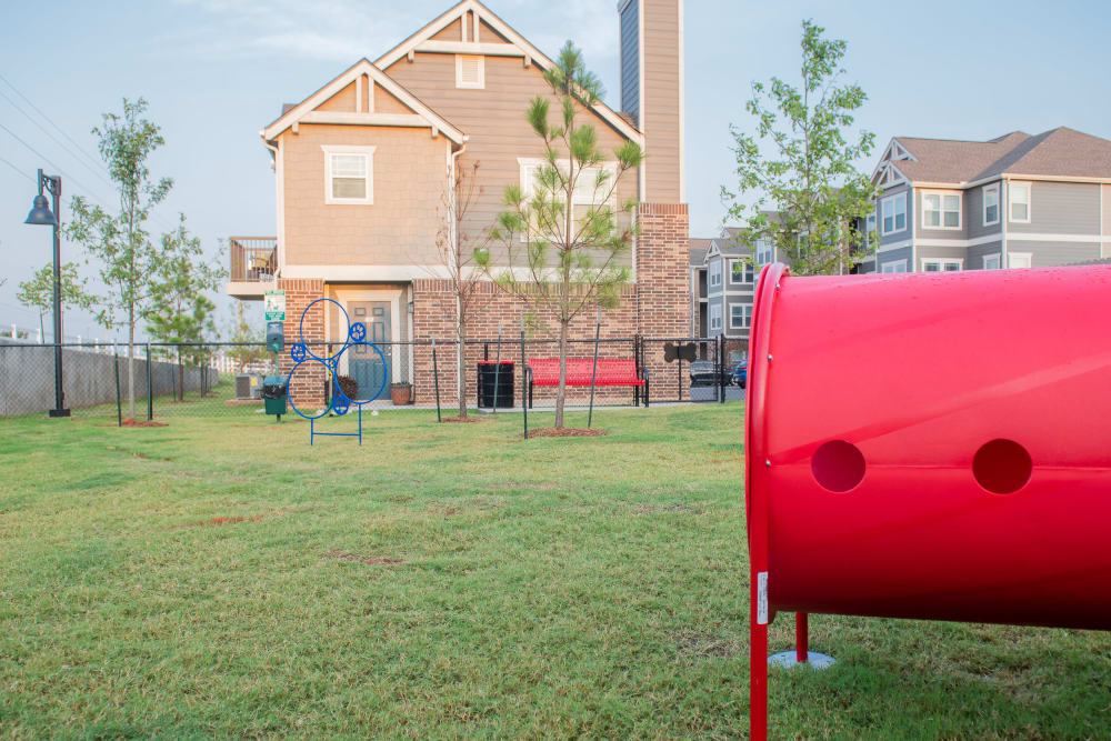 Awesome dog park on site at Artisan Crossing in Norman, Oklahoma