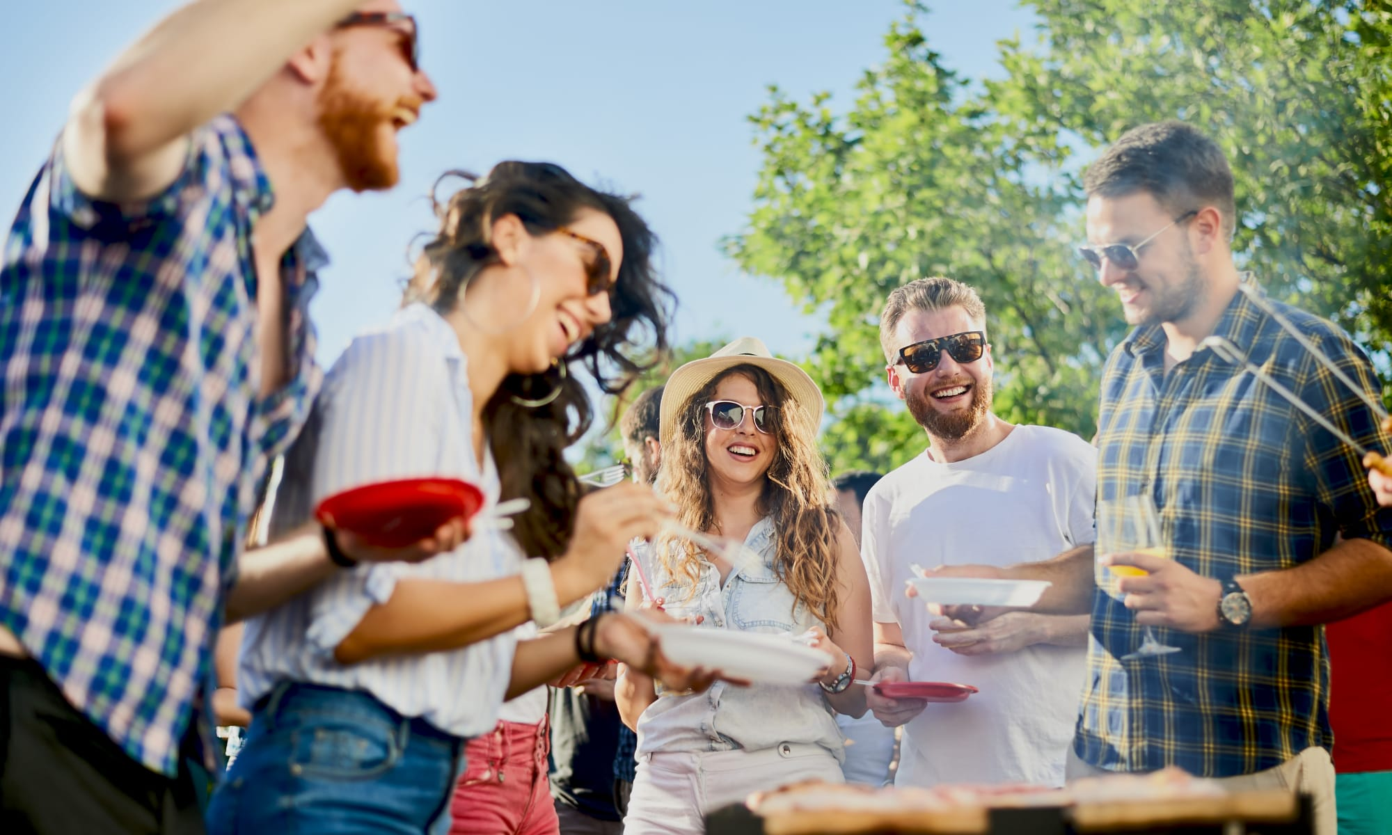 Barbecue with friends at Avilla Gateway in Phoenix, Arizona