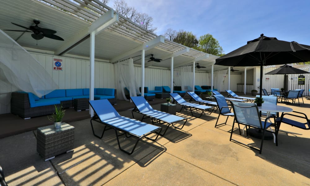 Resort Style Pool Deck at The Colony at Towson Apartments & Townhomes