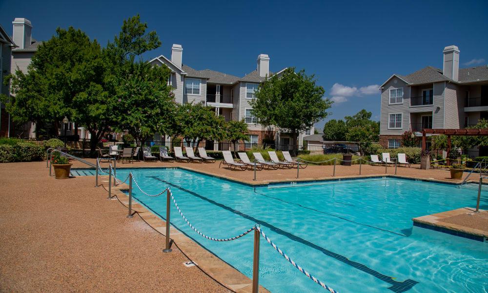 Relaxing pool at Prairie Springs in Oklahoma City, Oklahoma