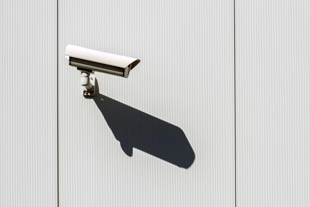 Security camera mounted to a wall at 603 Storage - Nashua in Nashua, New Hampshire