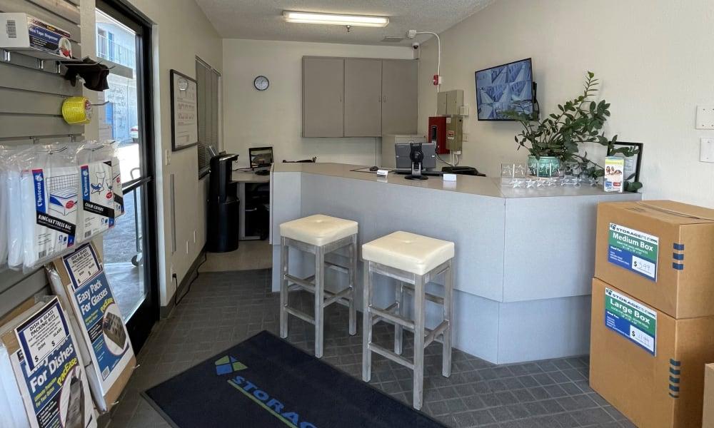 Storage leasing office at Storage Etc Tarzana