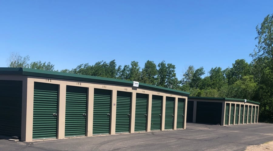 Exterior of outdoor units at KO Storage of Little Falls - West in Little Falls, Minnesota