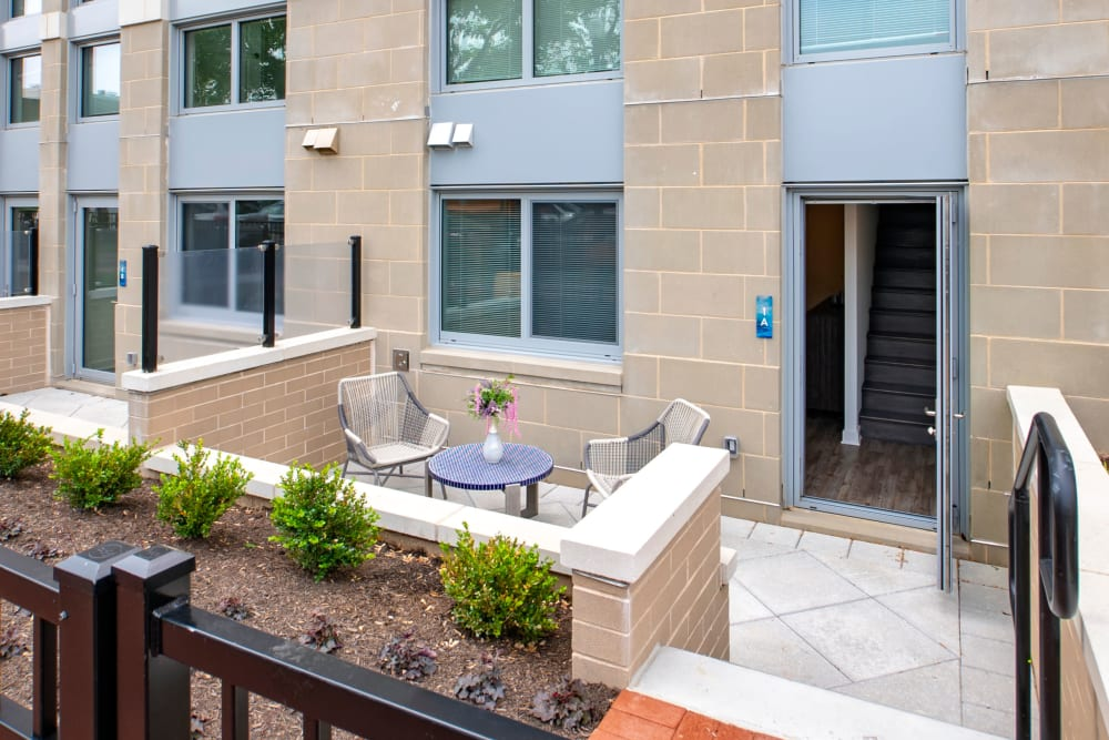 Private back patio with plenty of room for entertaining guests at Harlow in Washington, District of Columbia