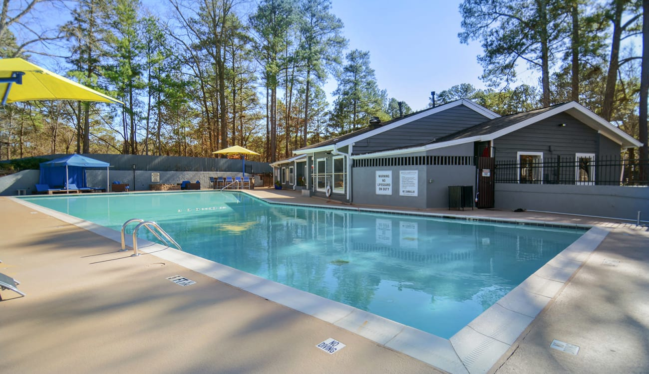 Nice swimming pool at Forest Cove in Doraville, Georgia