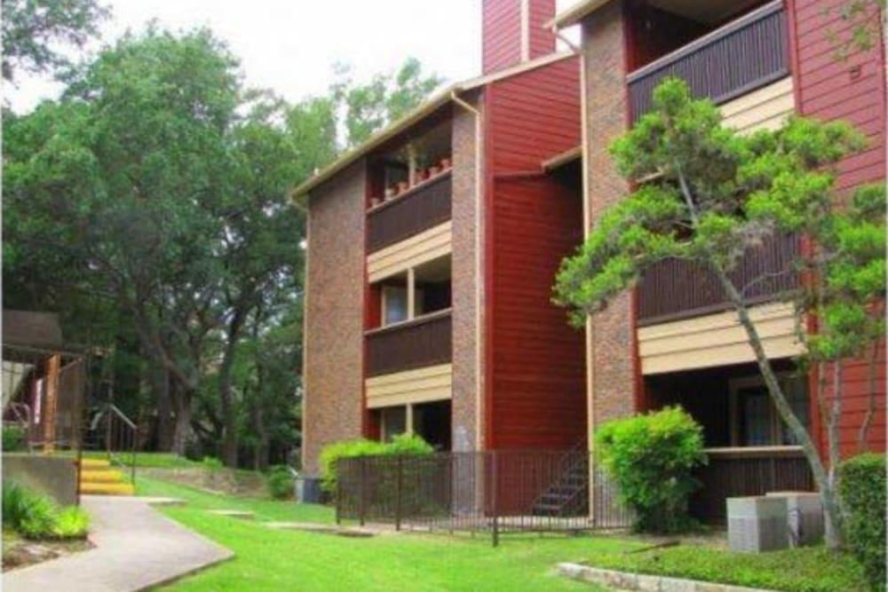 Private patios or balconies at Carmel at Deerfield in San Antonio, Texas