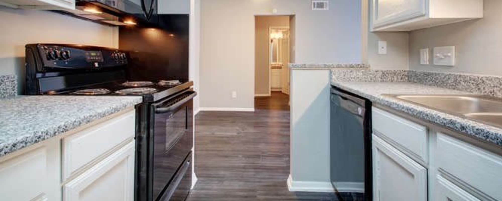 Upgraded kitchen at Northchase Apartments in Austin, Texas