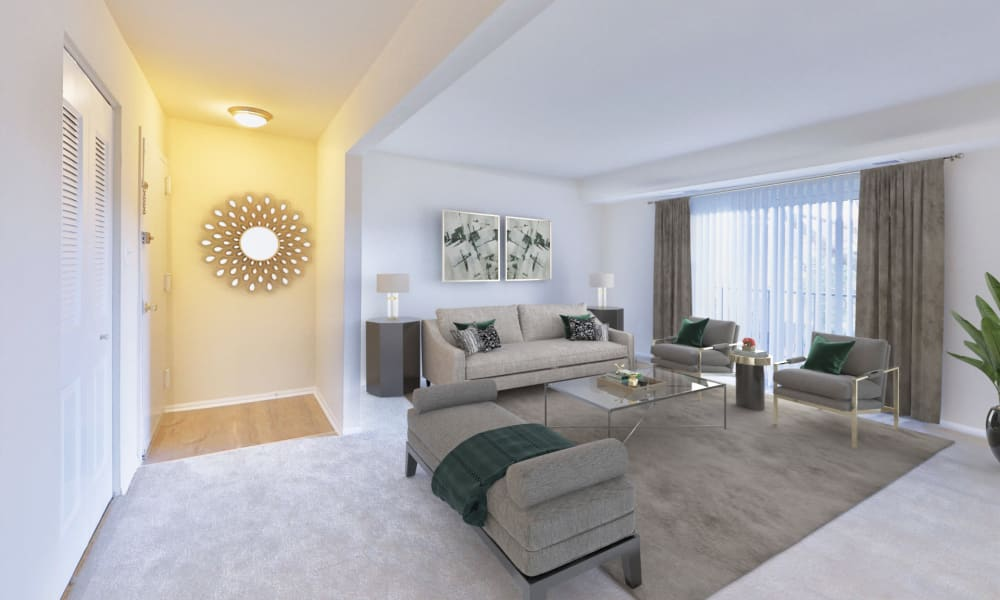 Spacious Living Space at East Meadow Apartments in Fairfax, Virginia