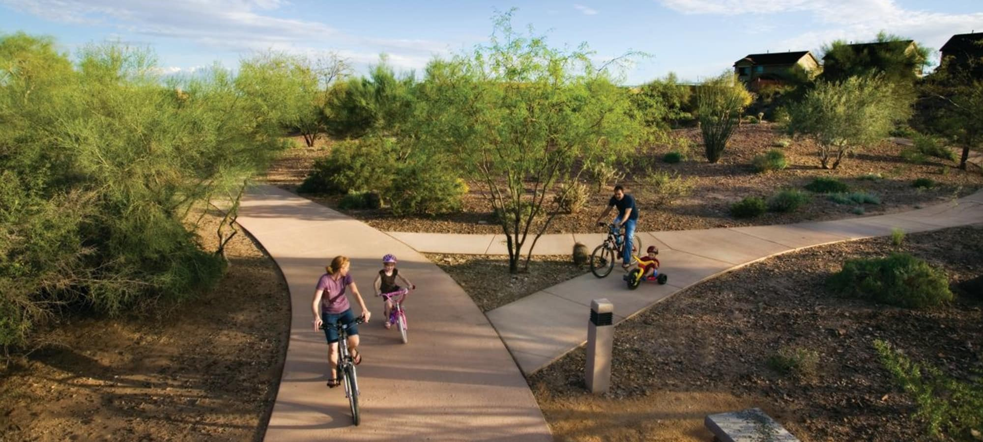 Family nature trails at Vistancia in Peoria, Arizona