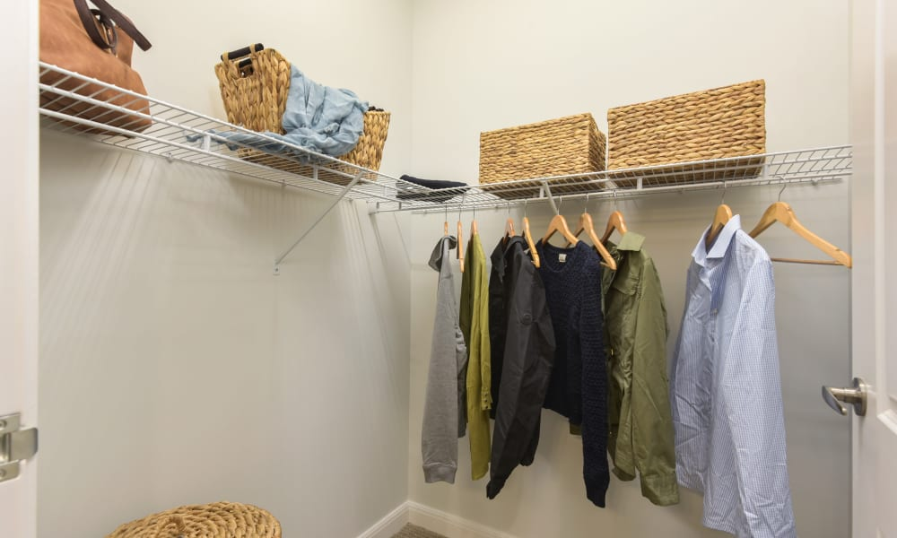 A bedroom closet with clothes Anthology of Troy in Troy, Michigan
