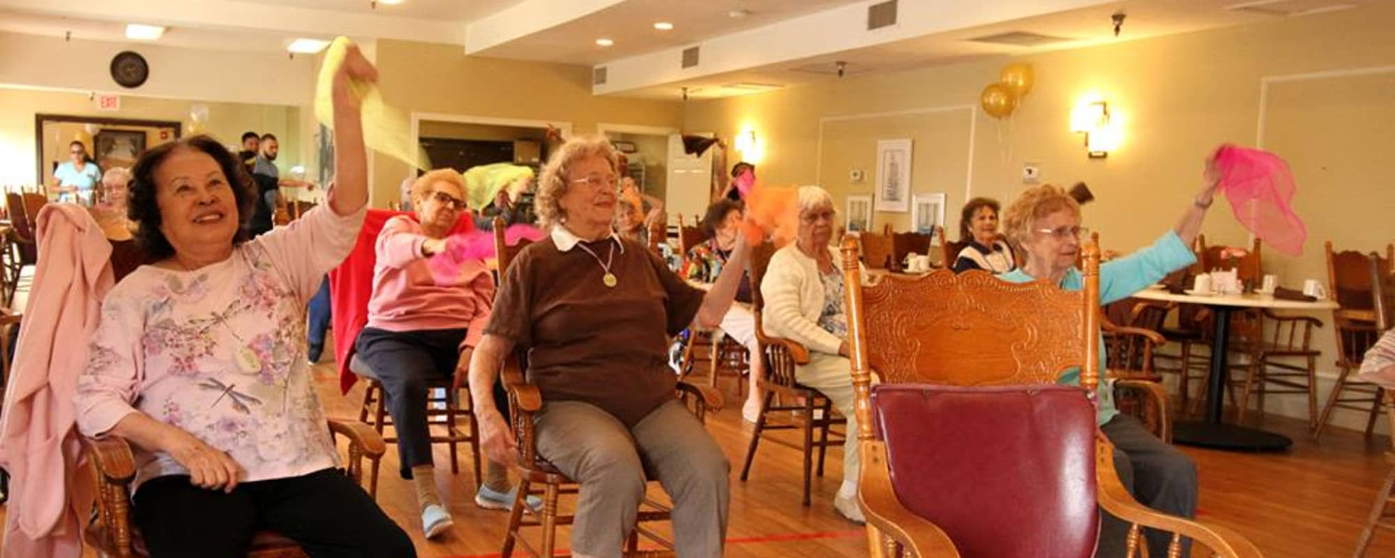 Seniors dancing at The Montera in La Mesa, California